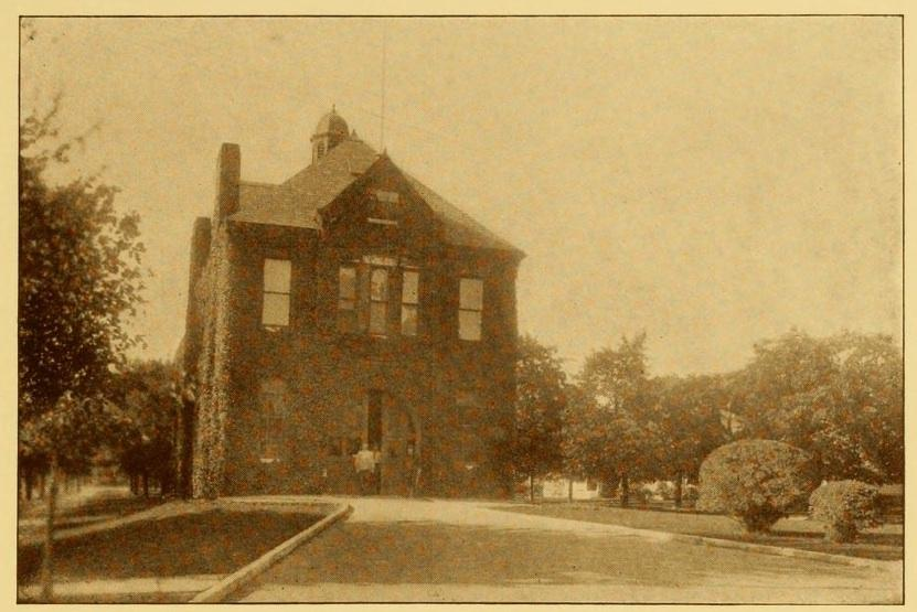 The Steamer 10 firehouse, as seen in a 1912 Chamber of Commerce booklet.
